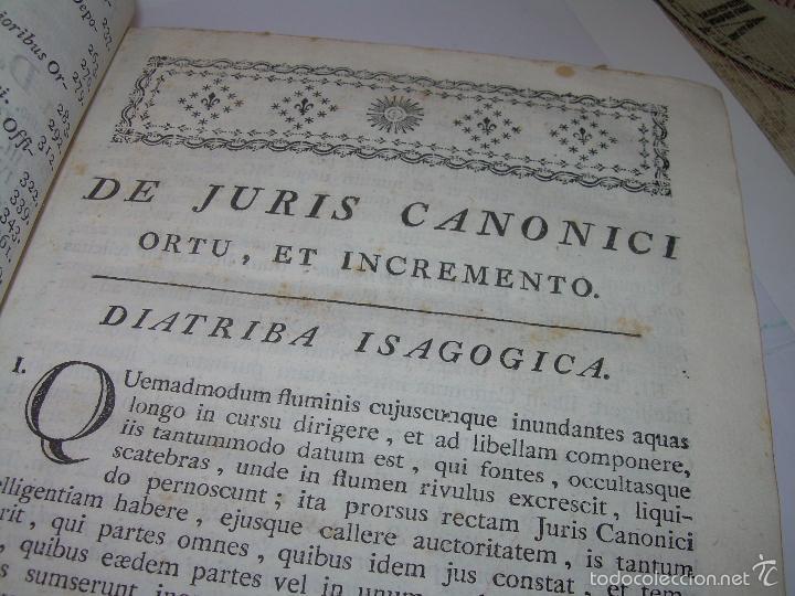 Libros antiguos: LIBRO TAPAS DE PIEL....INSTITUTIONUM CANONICARUM.....LEYES - DERECHO.....AÑO...1.789 - Foto 12 - 57159455