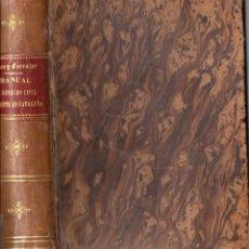 Libros antiguos: ELÍAS / FERRATER : DERECHO CIVIL VIGENTE EN CATALUÑA DE NUEVA PLANTA (1885). Lote 57320782