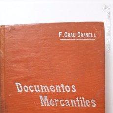 Libros antiguos: F. GRAU GRANELL. DOCUMENTOS MERCANTILES DE USO CORRIENTE... MANUALES SOLER, 85. Lote 57408606