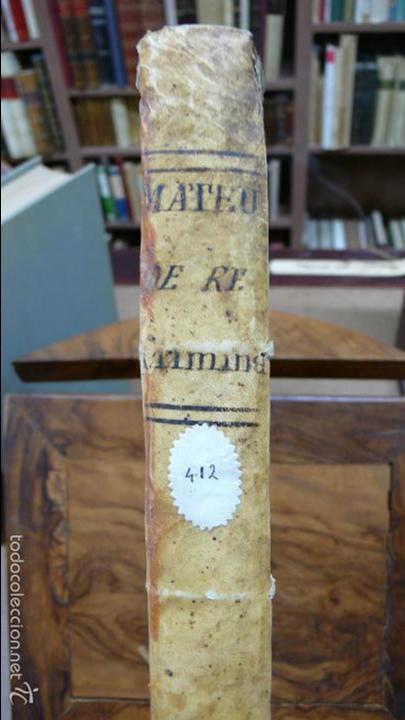 Libros antiguos: TRACTATUS DE RE CRIMINALI, SIVE CONTROVERSIARUM… LAURENTII MATTHAEU ET SANZ, 1750. - Foto 2 - 57438106