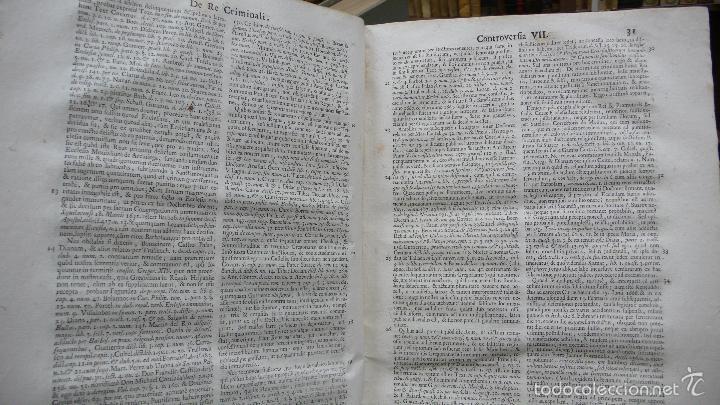Libros antiguos: TRACTATUS DE RE CRIMINALI, SIVE CONTROVERSIARUM… LAURENTII MATTHAEU ET SANZ, 1750. - Foto 6 - 57438106