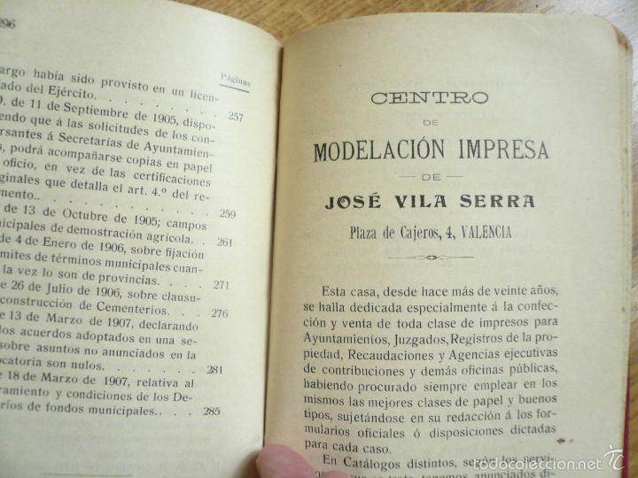 Libros antiguos: LEY MUNICIPAL. JOSÉ VILA SERRA. 1909. BIBLIOTECA JURÍDICA DE LOS AYUNTAMIENTOS Y JUZGADOS MUNICIPALE - Foto 4 - 57477988
