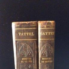 Libros antiguos: EL DERECHO DE GENTES, O PRINCIPIOS DE LA LEY NATURAL, APLICADOS A LA CONDUCTA MADRID 1834 VATTEL. Lote 57543819