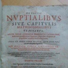Libros antiguos: DE PACTIS NUPTIALIBUS SIVE CAPITULIS MATRIMONIALIBUS TRACTATUS - FONTANELLA. Lote 57553799