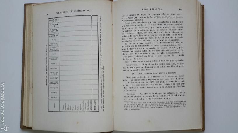 Libros antiguos: Leon Batardon. Elementos de Contabilidad. Ed. Labor. 1934 - Foto 4 - 57603139