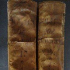 Libros antiguos - 'POLITICA PARA CORREGIDORES Y SEÑORES DE VASSALLOS' CASTILLO DE BOVADILLA. 2 TOMOS 1750.¡DEFECTUOSO! - 57665331