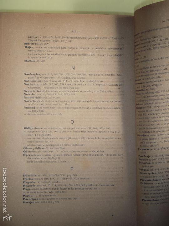 Libros antiguos: EL NUEVO CODIGO DE COMERCIO - VICENTE ROMERO Y GIRON - CENTRO EDITORIAL DE GONGORA, MADRID 1886 - Foto 5 - 57725524