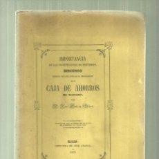 Libros antiguos: 119.- CAJA DE AHORROS DE MATARO-IMPORTANCIA DE LA ENTIDAD DE PREVISION. Lote 57731596