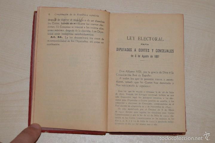 Libros antiguos: Revista de los Tribunales - Legislación Electoral - Editorial Gongora - Año 1933 - 5ª edición - Foto 3 - 57796245