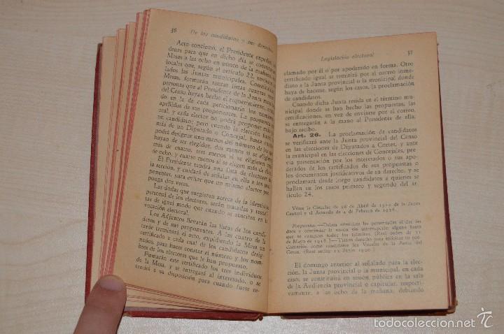 Libros antiguos: Revista de los Tribunales - Legislación Electoral - Editorial Gongora - Año 1933 - 5ª edición - Foto 4 - 57796245