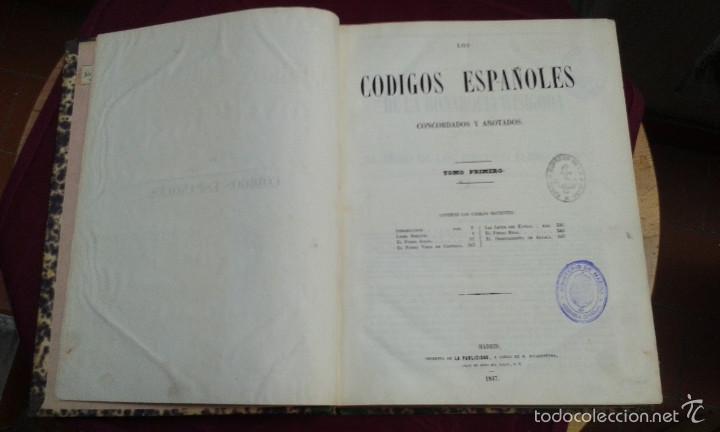 Libros antiguos: LOS CODIGOS ESPAÑOLES CONCORDADOS Y ANOTADOS ,TOMOS 1 Y 6,AÑO 1847 Y 1849 - Foto 9 - 57872001