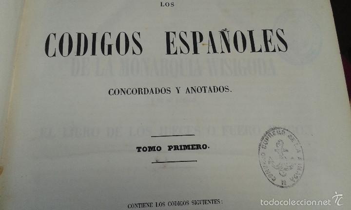 Libros antiguos: LOS CODIGOS ESPAÑOLES CONCORDADOS Y ANOTADOS ,TOMOS 1 Y 6,AÑO 1847 Y 1849 - Foto 10 - 57872001