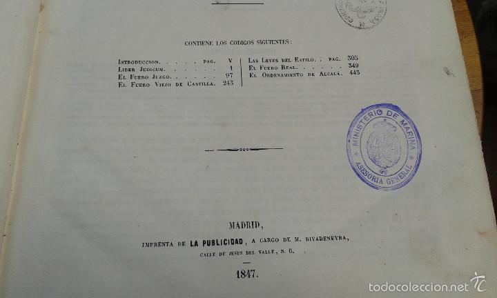 Libros antiguos: LOS CODIGOS ESPAÑOLES CONCORDADOS Y ANOTADOS ,TOMOS 1 Y 6,AÑO 1847 Y 1849 - Foto 11 - 57872001