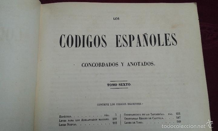 Libros antiguos: LOS CODIGOS ESPAÑOLES CONCORDADOS Y ANOTADOS ,TOMOS 1 Y 6,AÑO 1847 Y 1849 - Foto 19 - 57872001