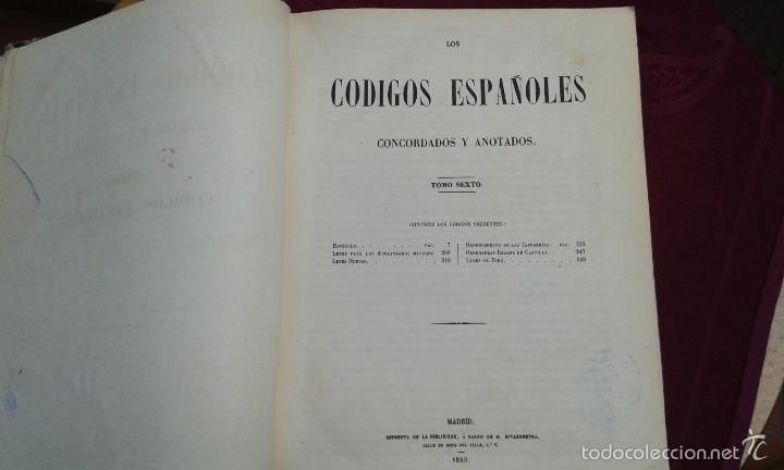 Libros antiguos: LOS CODIGOS ESPAÑOLES CONCORDADOS Y ANOTADOS ,TOMOS 1 Y 6,AÑO 1847 Y 1849 - Foto 21 - 57872001