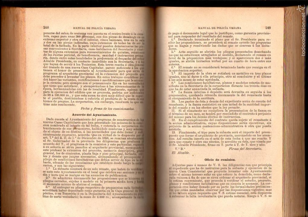 Libros antiguos: FERMIN ABELLA : MANUAL DE POLICÍA URBANA (MADRID, 1877) - Foto 3 - 57972058
