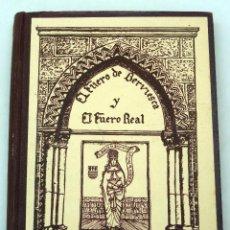 Libros antiguos: EL FUERO DE VERVIESCA Y EL FUERO REAL JUAN SANZ GARCÍA IMP EL CASTELLANO BURGOS 1927 . Lote 58066128