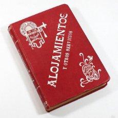 Libros antiguos: BIBLIOTECA JURIDICA, ALOJAMIENTOS Y OTROS SERVICIOS, JOSE VILA SERRA, VALENCIA 1911 480 PAGINAS. Lote 58106112