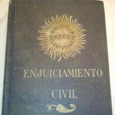 Libros antiguos: ENJUICIAMIENTO CIVIL DE 1881. Lote 58197836
