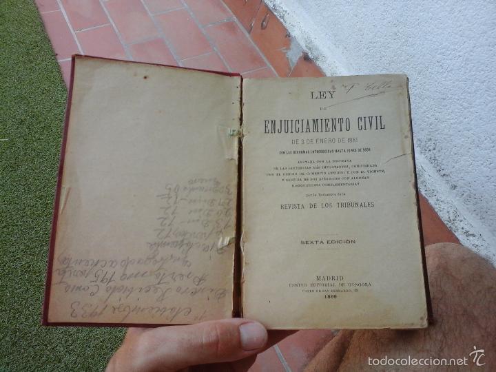 Libros antiguos: LIBRO ANTIGUO DE 1899 - Foto 3 - 58219799