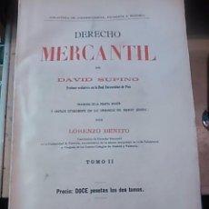 Libros antiguos: DERECHO MERCANTIL. TOMO II (MADRID, 1914). Lote 58368025