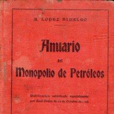 Libros antiguos: ANUARIO DEL MONOPOLIO DE PETROLEOS (CAMPSA) 1929. Lote 58563428