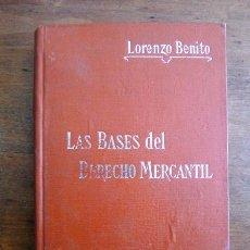 Libros antiguos: BENITO, LORENZO. LAS BASES DEL DERECHO MERCANTIL. (MANUALES SOLER ; 34). Lote 59506435