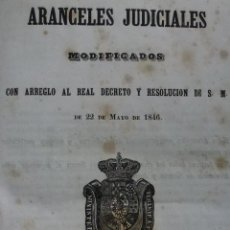 Old books - ARANCELES JUDICIALES MODIFICADOS. 1846 - 59629211