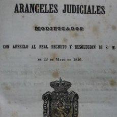 Libros antiguos - ARANCELES JUDICIALES MODIFICADOS. 1846 - 59629211