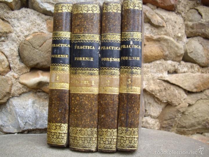 Libros antiguos: D.F.S.: NUEVO MANUAL de PRÁCTICA FORENSE, 4 tomos O.C. Impr. de F. Vallés 1835 - Foto 2 - 60108491