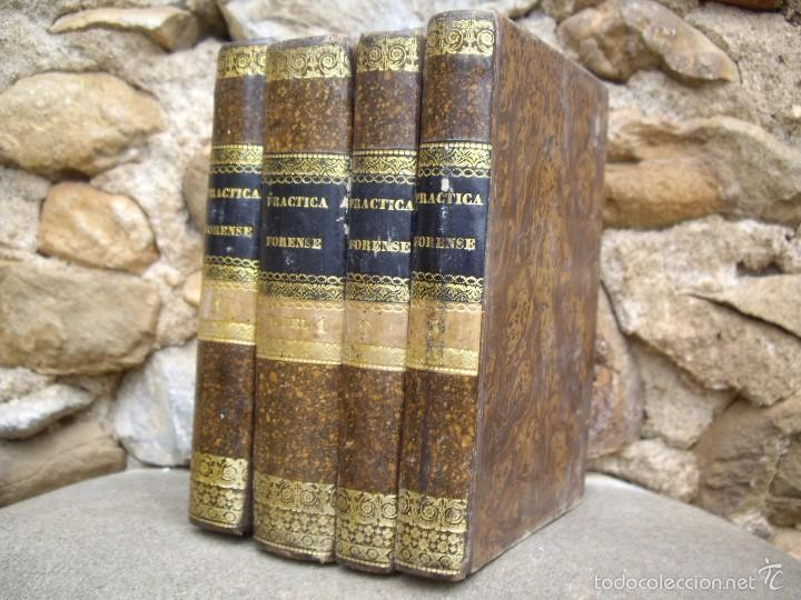 Libros antiguos: D.F.S.: NUEVO MANUAL de PRÁCTICA FORENSE, 4 tomos O.C. Impr. de F. Vallés 1835 - Foto 3 - 60108491