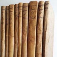Libros antiguos: 1841 * NUEVE VOLUMENES * LEYES Y REALES DISPOSICIONES DESDE 1833 A 1846 * PERGAMINO * 3271 PAGINAS. Lote 188694138