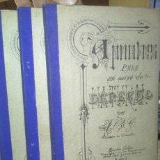 Libros antiguos: APUNTES PARA UN CURSO DE DERECHO NATURAL. 3 TOMOS. 1891. F.J. GONZÁLEZ DE CASTEJÓN, M. DE VADILLO.. Lote 60767059