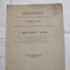 Libros antiguos: DISCURSO DEL CERTAMEN DE 1882 POR LA SOCIEDAD ECONOMICA DE AMIGOS DEL PAIS DE GERONA . Lote 60947939