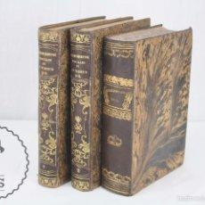 Libros antiguos: 3 LIBROS - PROCEDIMIENTOS JUDICIALES SEGÚN LA NUEVA LEY DE ENJUICIAMIENTO CIVIL - AÑOS 1856-1858. Lote 60980223