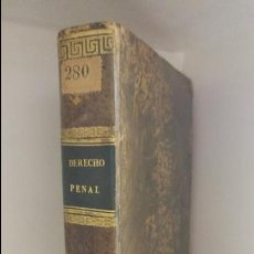 Libros antiguos: DERECHO PENAL . Lote 60995367