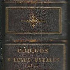 Libros antiguos: CODIGOS Y LEYES USUALES DE LA REPUBLICA ARGENTINA. TOMO II.FELIX LAJOUANE BUENOS AIRES 1886. Lote 61086751