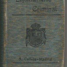 Livros antigos: LEY ENJUICIAMIENTO CRIMINAL. BIBLIOTECA DE DERECHO VIGENTE TOMO IV S.CALLEJA-MADRID EDIC 1911. Lote 61628060
