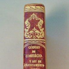 Libros antiguos: CÓDIGO DE COMERCIO Y LEY DE ENJUICIAMIENTO CIVIL. LIBRERÍA ESTEVAN PUJAL. 1864. BARCELONA. Lote 62364680