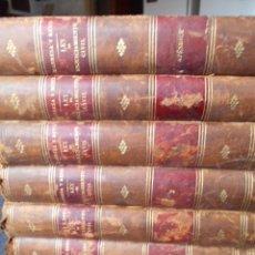 Libros antiguos: LEY DE ENJUICIAMIENTO CIVIL MANRESA Y NAVARRO 1856 6 TOMOS PASTA ESPAÑOLA. Lote 62521880