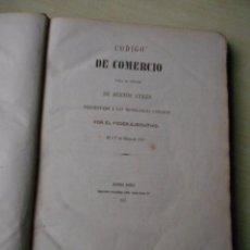 Libros antiguos: CÓDIGO DE COMERCIO 1857 BUENOS AYRES PROYECTO VELEZ SARFIELD MUY RARO. Lote 62537908