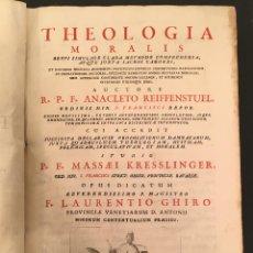 Libros antiguos: 1739 ANACLETO REIFFENSTUEL MASSAEU KRESSLINGER THEOLOGIA MORALIS BREVI SIMULQUE CLARA METHODO. Lote 63180048