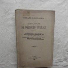 Libros antiguos: ESTUDIOS DE DERECHO PUBLICO DE RAFAEL M. DE LABRA. Lote 63578600