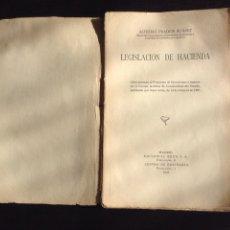Libros antiguos: LEGISLACIÓN DE HACIENDA. EDITORIAL REUS 1927. Lote 64355433