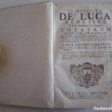 Libros antiguos: BAPTISTAE DE LUCA VENUSINI.THEATRUM VERITATIS ET JUSTITIAE.1758.FOLIO.PERGAMINO. Lote 65889618