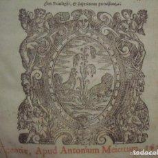 Libros antiguos: ANTONIO PEREGRINO. DECISIONES PATAVINAE. VICENTIAE 1627. FOLIO.. Lote 65890398