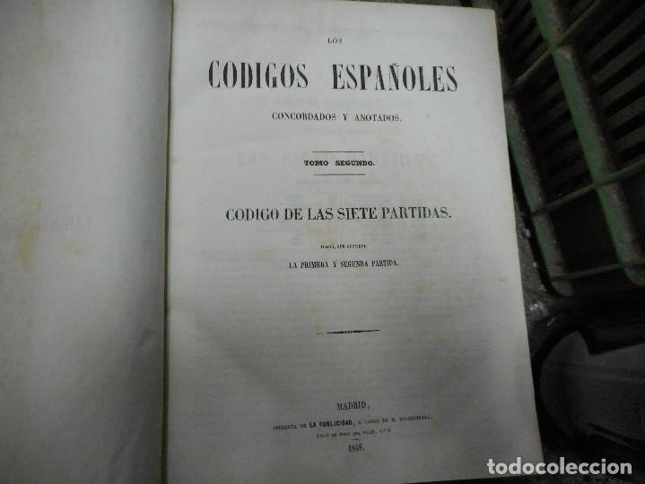 Libros antiguos: lote 4 tomos los codigos españoles fechados en 1847 y 1850 muy buen eastado - Foto 4 - 65906154
