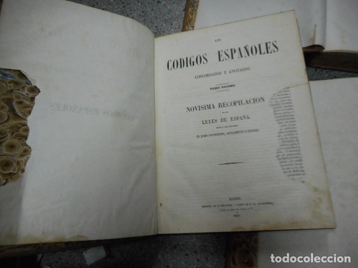 Libros antiguos: lote 4 tomos los codigos españoles fechados en 1847 y 1850 muy buen eastado - Foto 5 - 65906154