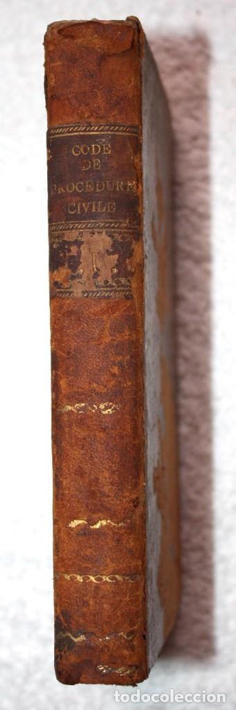 CODE DE PROCEDURE CIVILE, 1806 (FRANCÉS). (Libros Antiguos, Raros y Curiosos - Ciencias, Manuales y Oficios - Derecho, Economía y Comercio)
