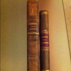 Libros antiguos: LOTE: MARIANO CARRERAS Y GONZALEZ ( ECONOMÍA POLÍTICA Y TRATADO ELEMENTAL DE ESTADÍSTICA). Lote 67032614